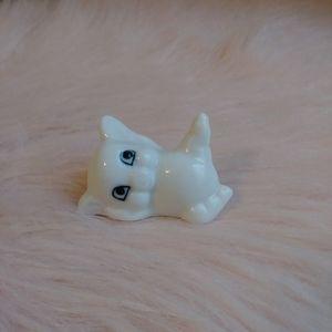 Vintage Kitsch Bone China Little Pig Figurine